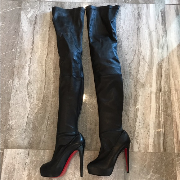 48802d9f0eab Christian Louboutin Shoes - CHRISTIAN LOUBOUTIN BLACK OVER THE KNEE BOOTS